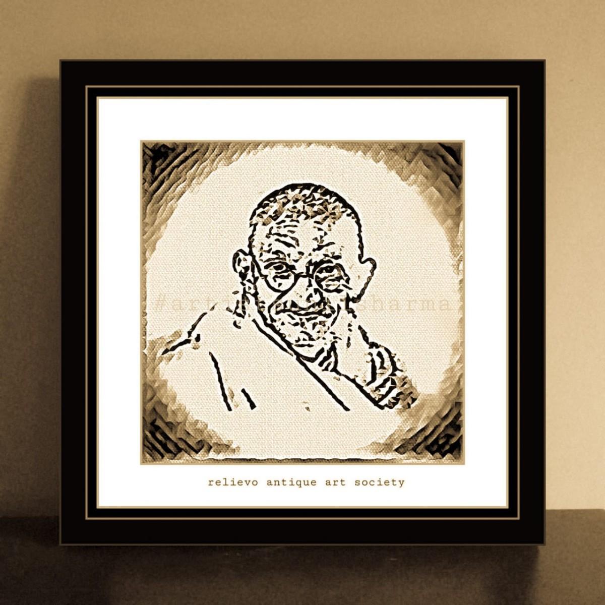 Mahatma Gandhi | 24 X24″